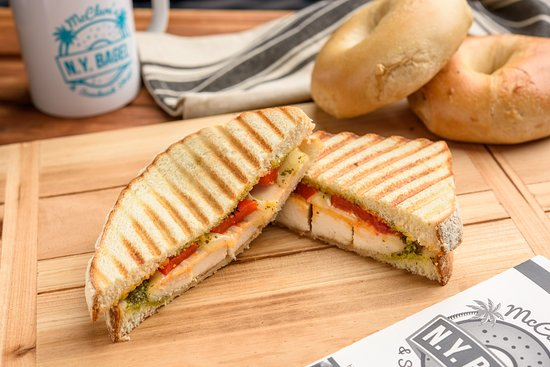 Grilled Chicken Pesto Panini
