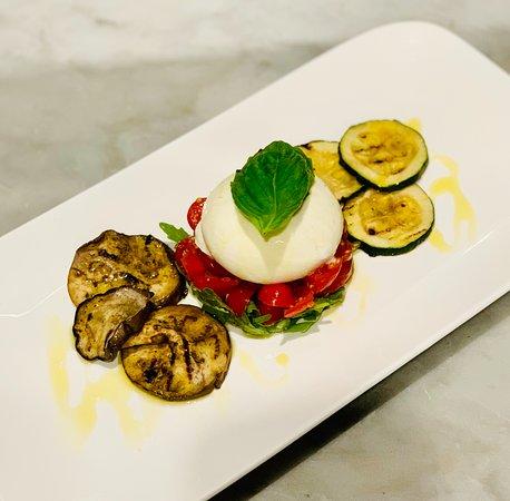 Burratina et légumes grillées