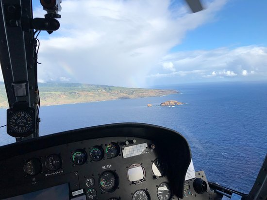 West Maui and Molokai Exclusive 45-Minute Helicopter Tour: rainbows over Molokai