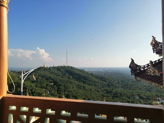 Sagaing Hill on the thirty Cave Pagoda