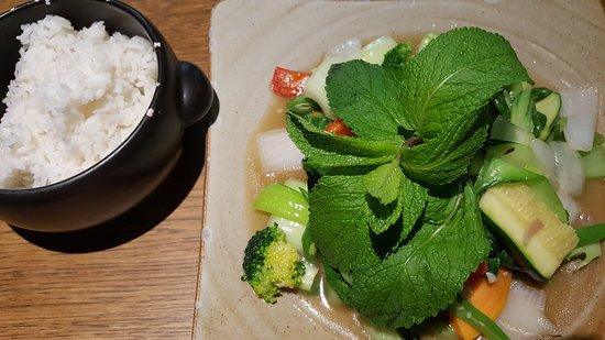 Blätterkohl mit Reis