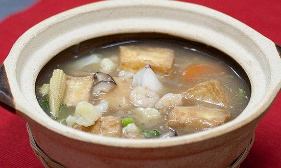 Seafood Home-Made Tofu Claypot