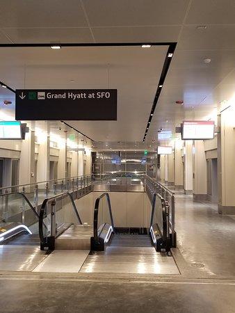 Grand Hyatt at SFO AirTrain stop