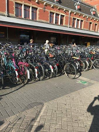Амстердам, Нидерланды: bycycles city