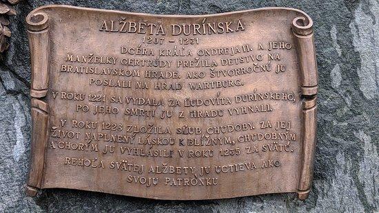 Bratislava, Slovakiet: Monument to Saint Catherine