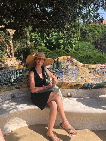 Entrada al parque Güell con visita panorámica a la Casa Batlló y La Pedrera: guell park - serpent bench