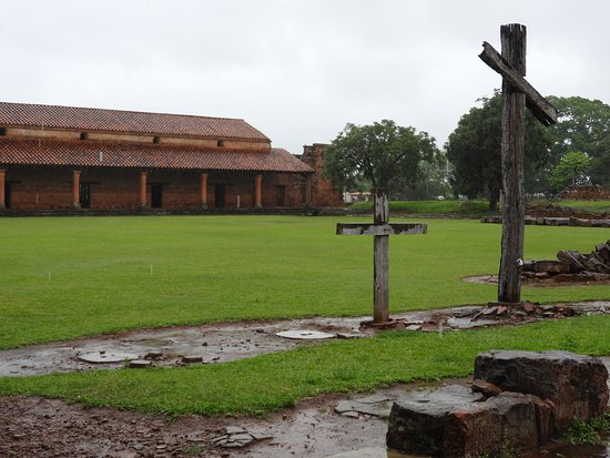 San Cosme y Damian, Paraguay: The grounds near the church