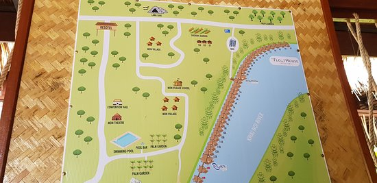 the map and surrounds