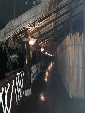 the resort corridor to the villas