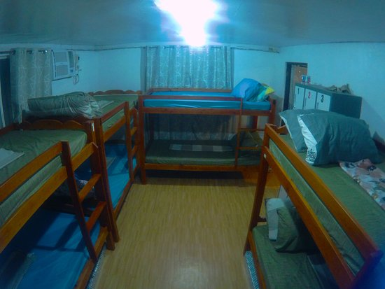 Bunk beds in an air conditioned dormitory also available. Free breakfast and wifi.