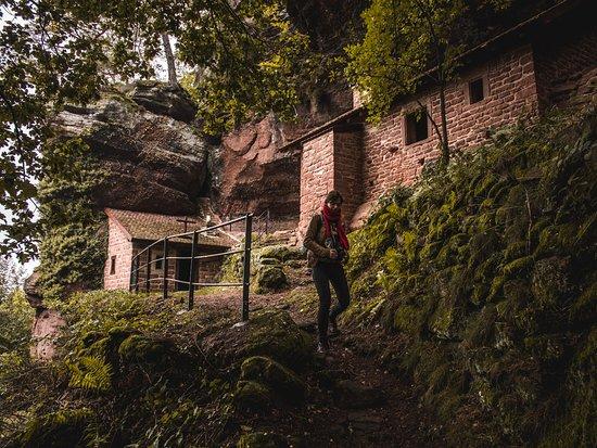 لورين, فرنسا: maisons troglodytes de Hobbitebourg de Falkenfels qui connaît ? Cela sera à retrouver dans l'article à venir. D'ici là, RDV sur insta : bienvoyager #voyage #lorraine #france #insolite