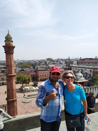 Újdelhi, India: Tour of old Delhi and view from roof top, Mr Romy is very best tour guide for Old and New Delhi.