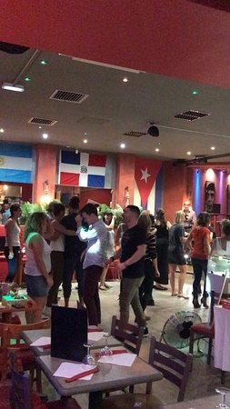 People enjoying the dance floor