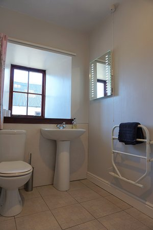 The downstairs bathroom in the Beltie Byre self catering cottage