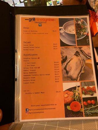 Grill ninety nine Menu