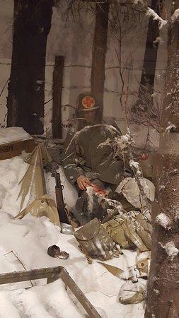 bataille de bastogne sous la neige