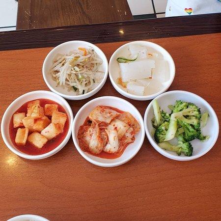 Soondubu and Yukgaejang with Banchan