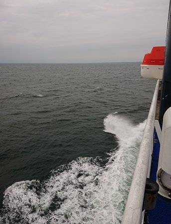 Scandlines Ferry over the Fehmarnbelt Straight in the Baltic Sea. ..