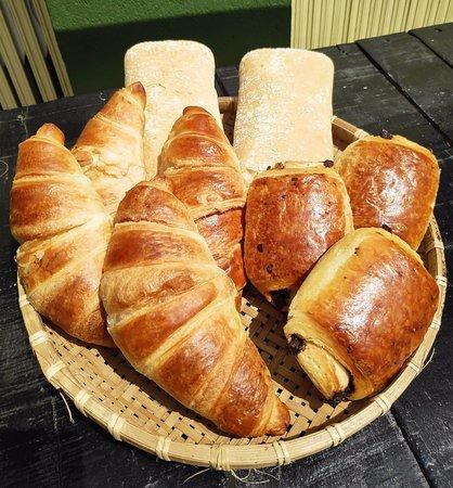 Pastries and ciabatta