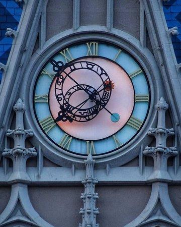 Even the clock has design work that is impressive