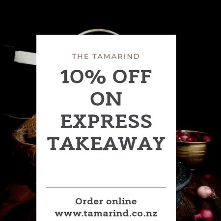 Express Takeaway From 4 30 6pm Get 10 Off T C Apply Picture Of The Tamarind 2017 Blenheim Tripadvisor