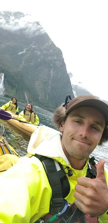 Sunriser Classic Sea Kayaking Trip from Milford Sound: Kayak in Milford sound. Monty, the guide