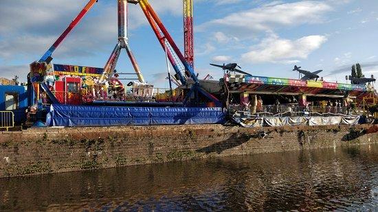 Stourport fairground by River Severn