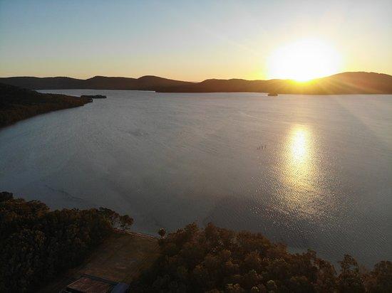 Booti Booti, Australia: Sunset over Wallis Lake