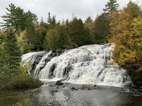 Paulding, MI: Right side of beautiful Bond Falls.