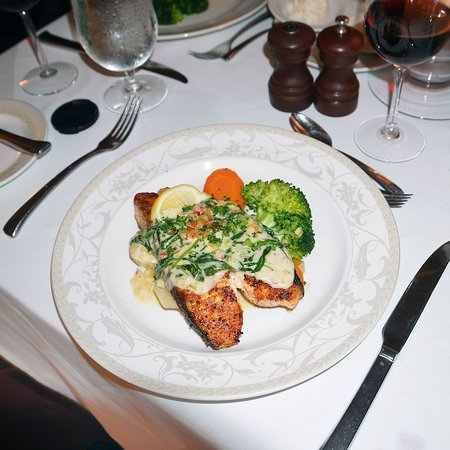Grilled Salmon with vegetables! It was so delicious and the portion was generous.