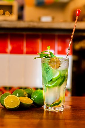 Freshly Squeezed Lime Juice, Mint leaves, Agave - The most refreshing concoction to start your meal!