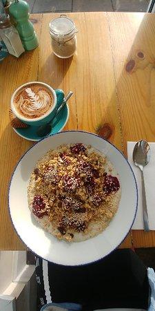 Granola Bowl and coffe