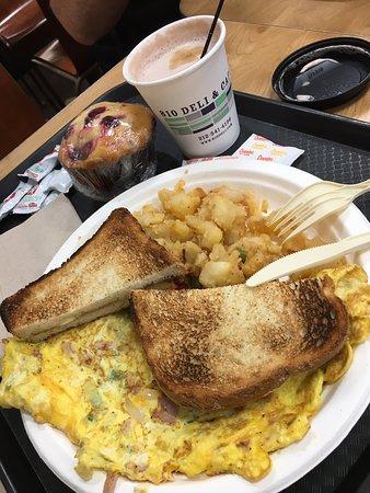 Diversas opções para café da manhã