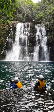 Eau bleue waterfalls in the village of Cluny is a hidden gem.During rainy season the river water fill up 4 beautiful waterfalls(eau turquoise) and travellers can do a river trek with us (abseilin,jumping off cliffs,swimming).