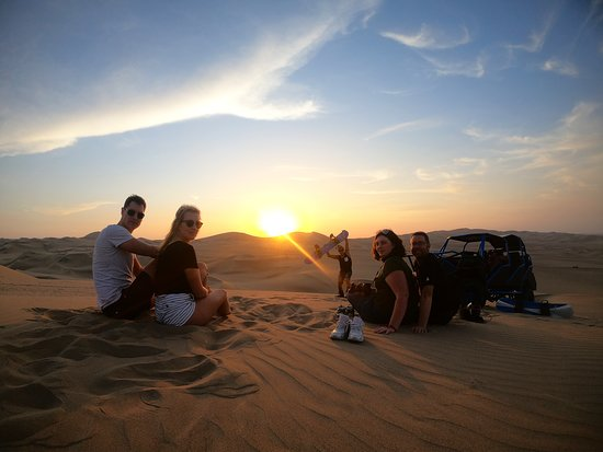Huacachina, Perú: Sunset time