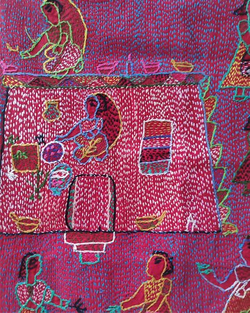 Madhubani District, India: Sujani Craft : Our travel to the craft clusters of Bihar.