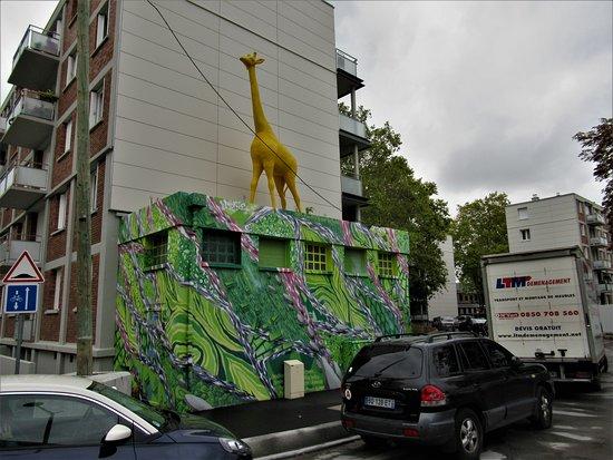 "Fresque ""Girafe jaune"""