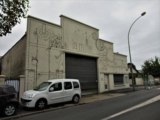 "Fresque ""Ressourcerie La Mine"""