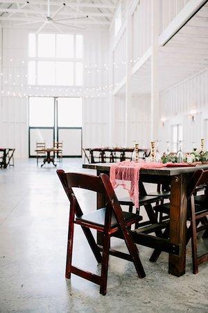 Cynthiana, KY: Interior of the wedding and event barn at Ashford Acres Inn.