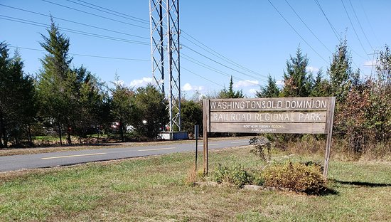 Virginia: About midway is this entry point/parking lot in Sterling