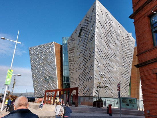 Outside view of Titanic Belfast