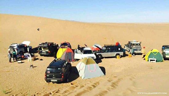 Mesr, Iran: Capming in tents