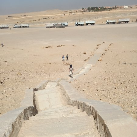 105 stairs to go up the burial chamber of the red Pyramid 2600 B.C. at Dahshour Giza Egypt