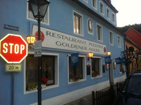 Hohenfels, เยอรมนี: pizzeria-restaurant..goldener adler,marktplatz.5