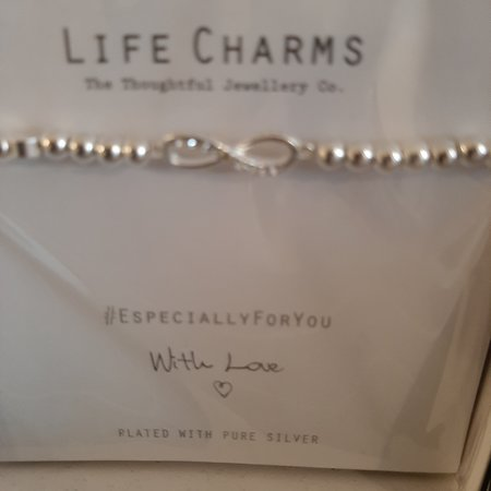 Life charm bracelets and necklaces would make a lovely gift this Christmas available from our gift shop inside the tea room