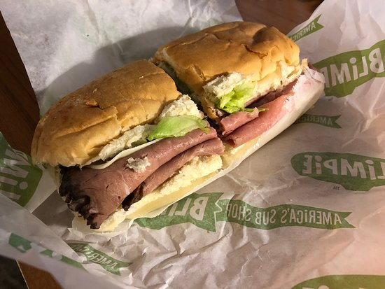 """Great sandwich - the 6"""" made 2 meals for me, it was so loaded with roast beef"""