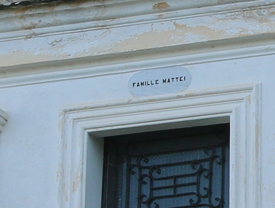 Chapelle funeraire de la famille Mattei