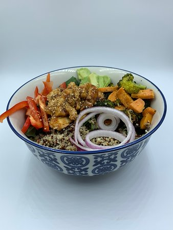 "Our Honey Ginger Chicken Power Bowl is quickly becoming a fan favourite on our new menu at The Bay!!  ""Super Foods"" are super delicious!!"