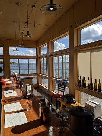Omena, MI: View from the bar toward lake