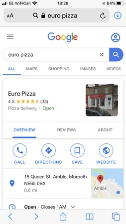 Euro Pizza Wallsend Menu Prices Restaurant Reviews